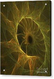 Sunflower Nebula Acrylic Print by Sandra Bauser Digital Art