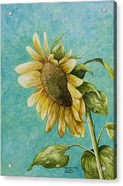 Sunflower Number One Acrylic Print