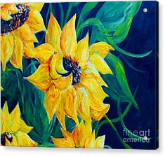 Sunflower Party Acrylic Print by Eloise Schneider