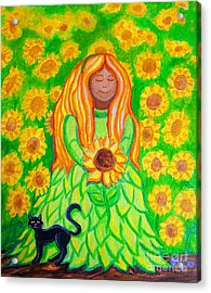 Sunflower Princess Acrylic Print by Nick Gustafson