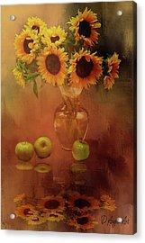 Sunflower Reflections Acrylic Print