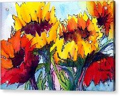 Sunflower Serenade Acrylic Print by Anne Duke