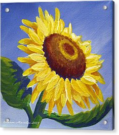 Sunflower Skies Acrylic Print by Sharon Marcella Marston
