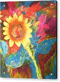 Sunflower Song Acrylic Print by Esther Newman-Cohen