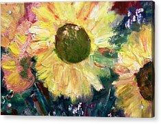 Sunflower Sparkle Acrylic Print