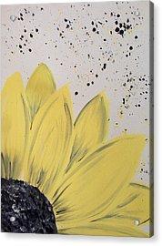Sunflower Splatter Acrylic Print