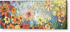 Sunflower Tropics Acrylic Print by Jennifer Lommers