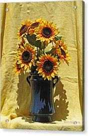 Sunflower Vase Acrylic Print by Garth Glazier