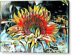 Sunflower 02 ...25.22 Macro Art Printing Acrylic Print
