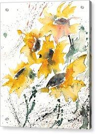 Sunflowers 10 Acrylic Print by Ismeta Gruenwald
