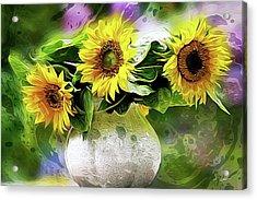 Sunflowers 13...26.16 Yellow Symbolised Happiness Acrylic Print