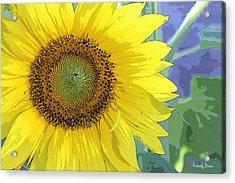 Sunflowers All Around Acrylic Print