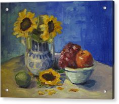 Sunflowers And Fruit Acrylic Print