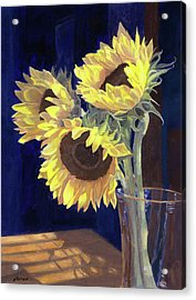 Sunflowers And Light Acrylic Print