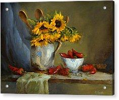 Sunflowers And Paprika Acrylic Print