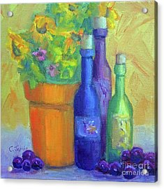 Sunflowers And Wine Acrylic Print