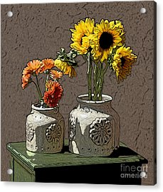 Sunflowers Acrylic Print by Anthony Forster
