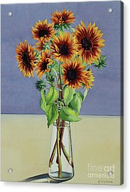 Sunflowers Acrylic Print by Christopher Ryland