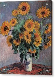 Sunflowers Acrylic Print by Claude Monet