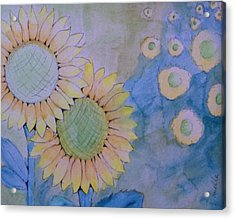 Sunflowers Acrylic Print by Donielle Boal