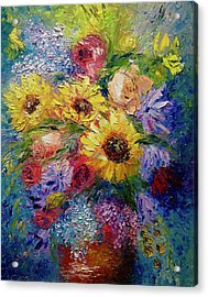 Sunflowers Etc. Acrylic Print by Marina Wirtz