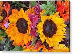 Sunflowers Eyes Acrylic Print