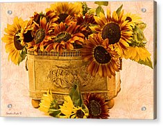 Sunflowers Galore Acrylic Print