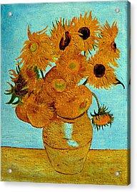 Sunflowers Acrylic Print by Henryk Gorecki
