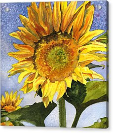Sunflowers II Acrylic Print by Anne Gifford