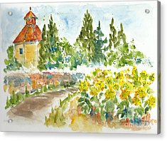 Sunflowers In Provence Acrylic Print