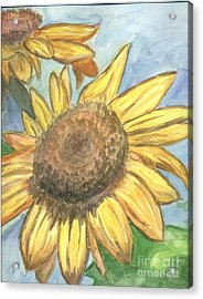 Acrylic Print featuring the painting Sunflowers by Jacqueline Athmann