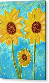 Sunflowers Acrylic Print by John Scates