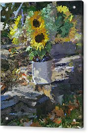Sunflowers Acrylic Print by Kenneth Young