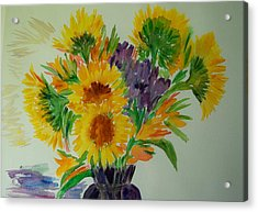 Sunflowers Acrylic Print by Liliana Andrei