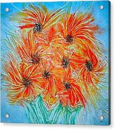 Sunflowers Acrylic Print by Marie Halter