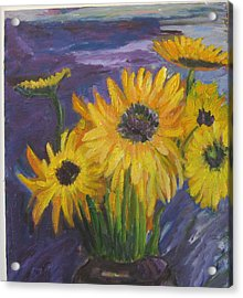 Sunflowers Of My Mind Acrylic Print