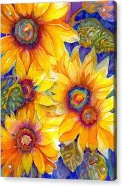 Sunflowers On Blue II Acrylic Print