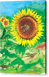 Sunflowers Acrylic Print by Ray Cole