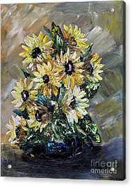 Sunflowers Acrylic Print by Teresa Wegrzyn