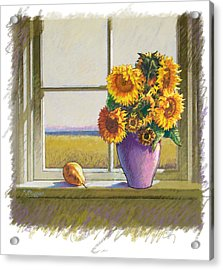 Sunflowers Acrylic Print by Valer Ian