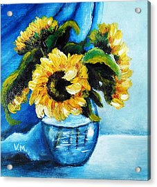 Sunflowers Acrylic Print by Vesna Martinjak