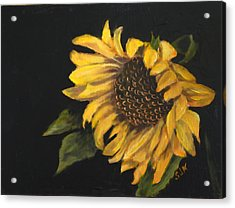 Acrylic Print featuring the painting Sunflowervi by Sandra Nardone