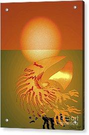 Sungazing Acrylic Print