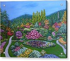 Sunken Garden Acrylic Print
