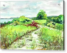 Acrylic Print featuring the painting Sunken Meadow, September by Susan Herbst