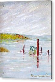 Sunken  Acrylic Print by Norman F Jackson
