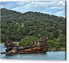 Acrylic Print featuring the photograph Sunken Shop by Linda Constant