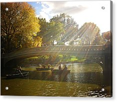 Sunlight And Boats - Central Park -  New York City Acrylic Print by Vivienne Gucwa