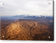 Sunlight And Snow-capped Peaks Acrylic Print