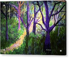 Sunlight In The Forest Acrylic Print